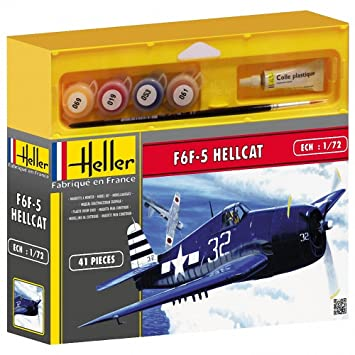 Heller 50272 - Maqueta de Caza F6F-5 Hellcat (Segunda Guerra ...