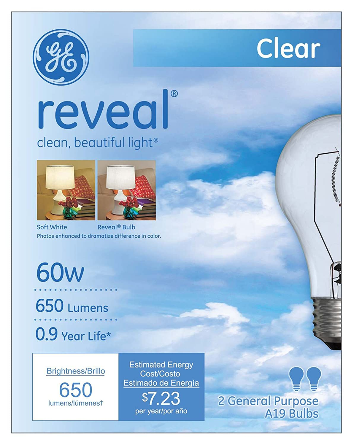 DLC 80 CRI UL Frosted GE 38257 Glass LED Tube Lamp Soft White 3000K Dimmable General Electric 70,000 Year Lifespan