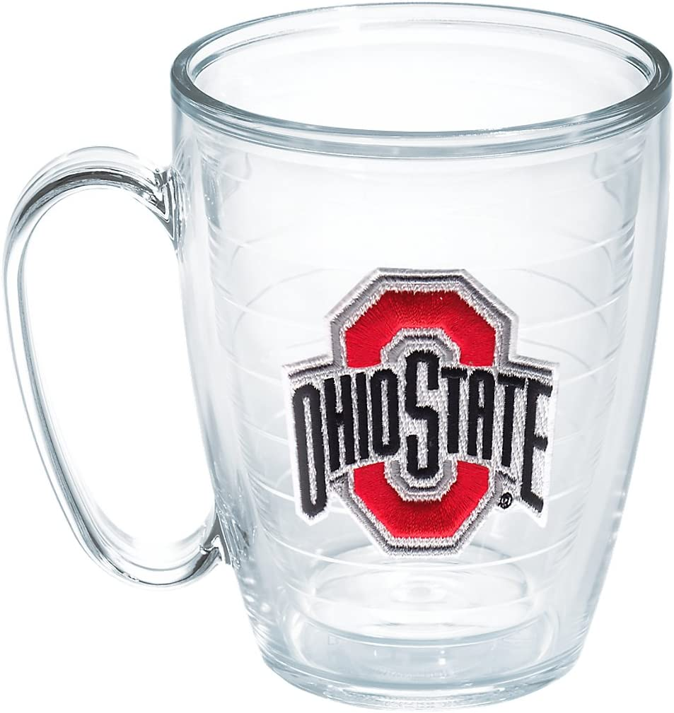 Tervis 1048842 Ohio State University Emblem Individual Mug, 16 oz, Clear
