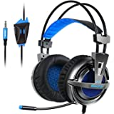 KingTop PS4 Gaming Headset Over Ear Stereo Bass Gaming Headphone with Noise Isolation Microphone for PS4 Xbox One S PC Mobile Phones