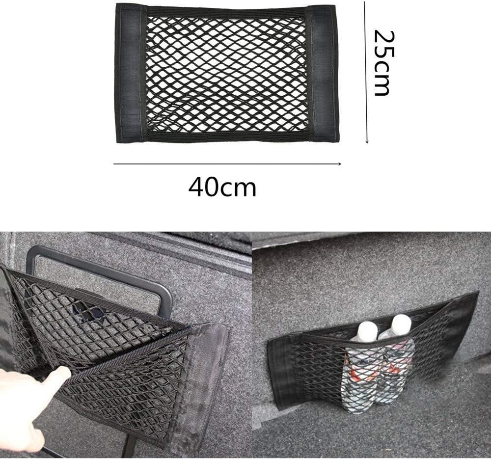 2 reti Elastiche per Sedile dell/'Auto Camper KUKU ZHEN Camper Camion per SUV Colore Nero