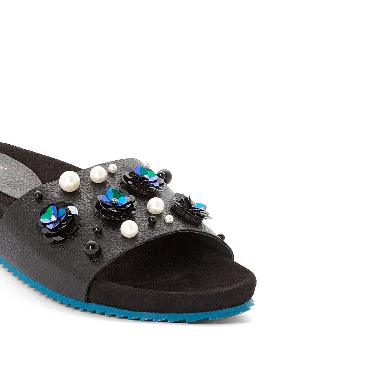 5.5 To 6 La Redoute Womens Embellished Mules Black Size 39 MADEMOISELLE R 5793275-000-1008610-00039-1
