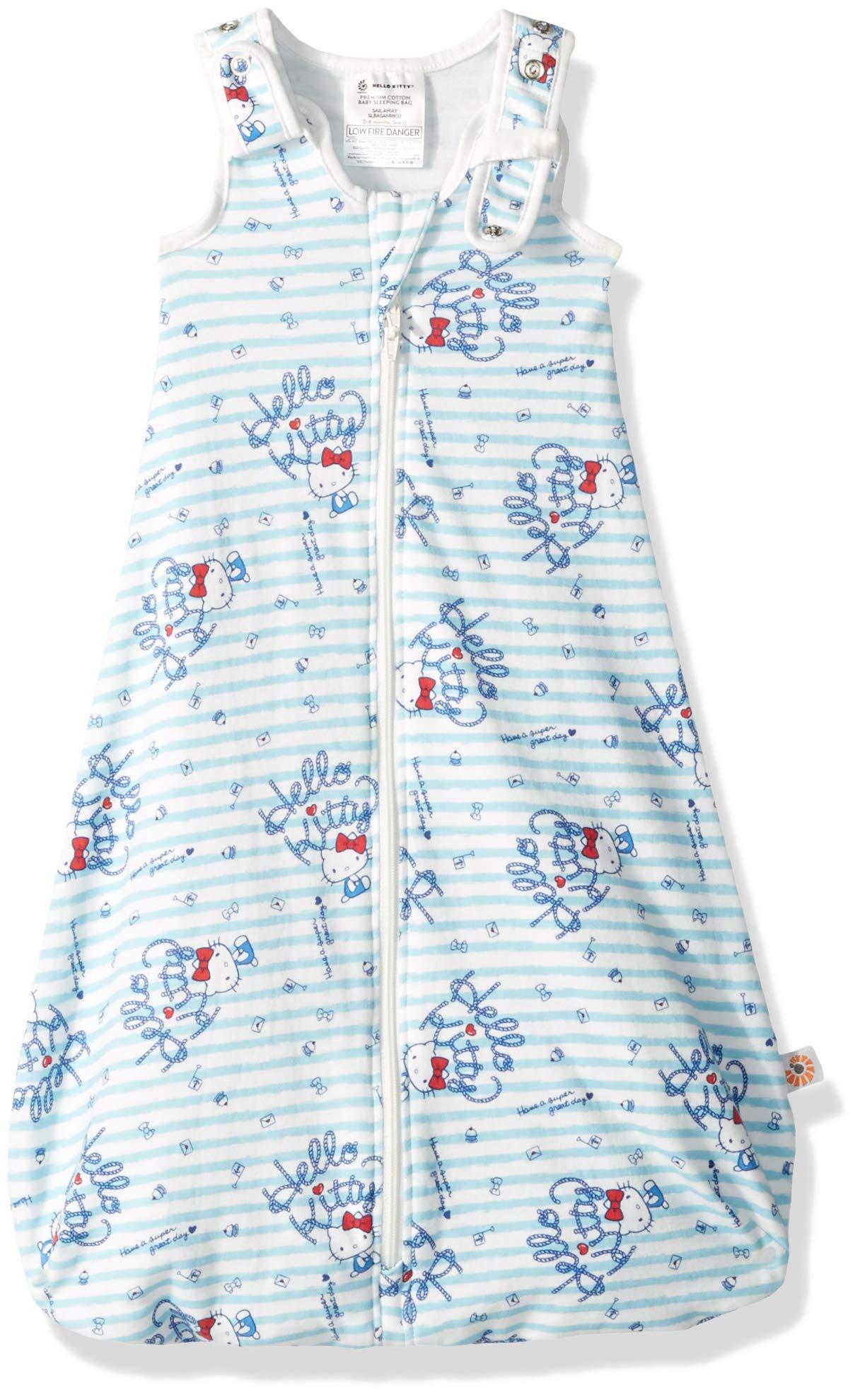 Ergobaby Premium Cotton Sleep Bag, Sail Away, Blue, 0-6 Months