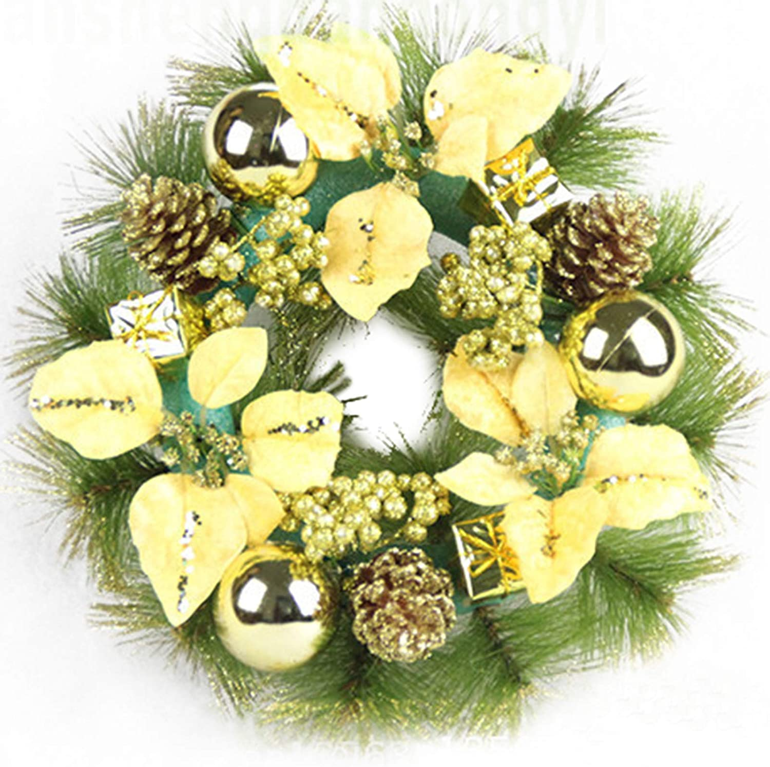 Christmas Wreath for Front Door Artificial Flower Pine Wreaths 12 inch Farmhouse Outside Decorating