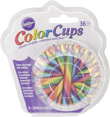 Wilton 36 Count Multi- Candy Cane Baking Cups, Assorted