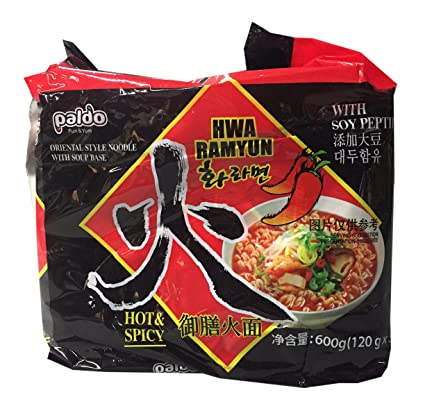 Amazon.com : Paldo Korean Ramen Family Pack (Hwa) : Grocery & Gourmet Food