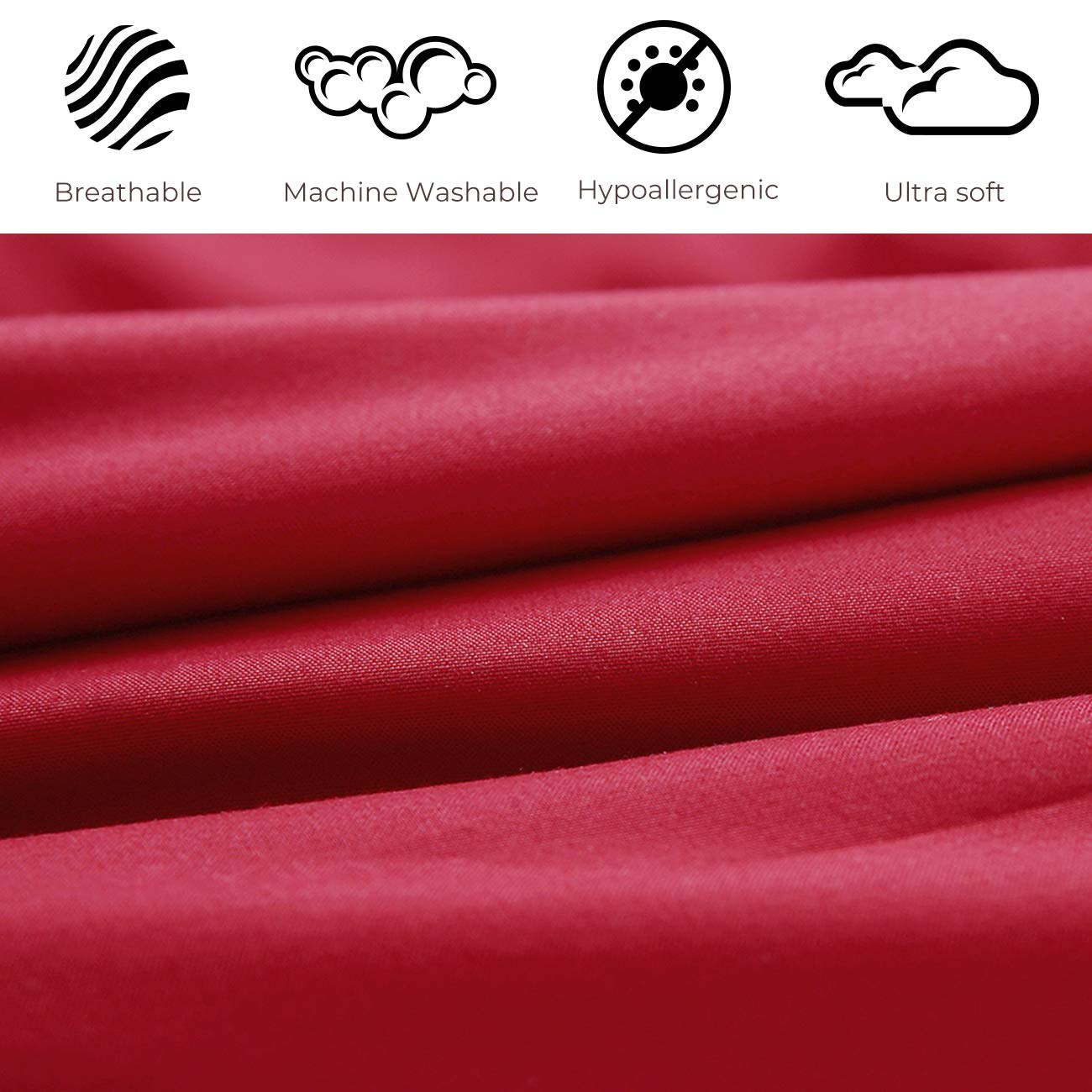 HONEYMOON HOME FASHIONS Queen Reversible Comforter Set, 3 Pieces, Red and Tan