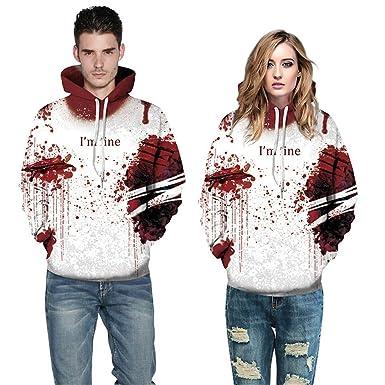 LJFKDFSC Halloween 3D Unisex Melt Print Hoodie & Sweatshirt Streetwear at Amazon Mens Clothing store: