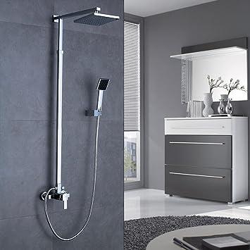 Thermostat Duschset Wasserfall Regendusche Duscharmatur Duschsystem Chrom Set