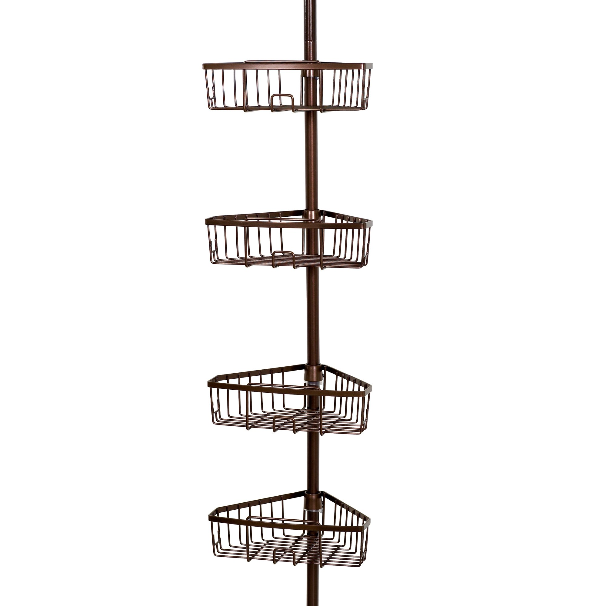 Zenna Home 2127HB, Tension Corner Pole Caddy, Oil Rubbed Bronze