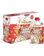 Happy Tot Organic Stage 4 Super Morning Apple Cinnamon Yogurt Oats + Super Chia, 4 Ounce Pouch (Pack of 8) (Packaging May Vary)