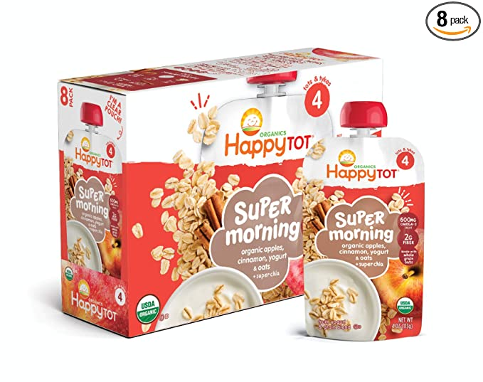 Bebida Super Morning de Happy Tot, de bananas, ará ...