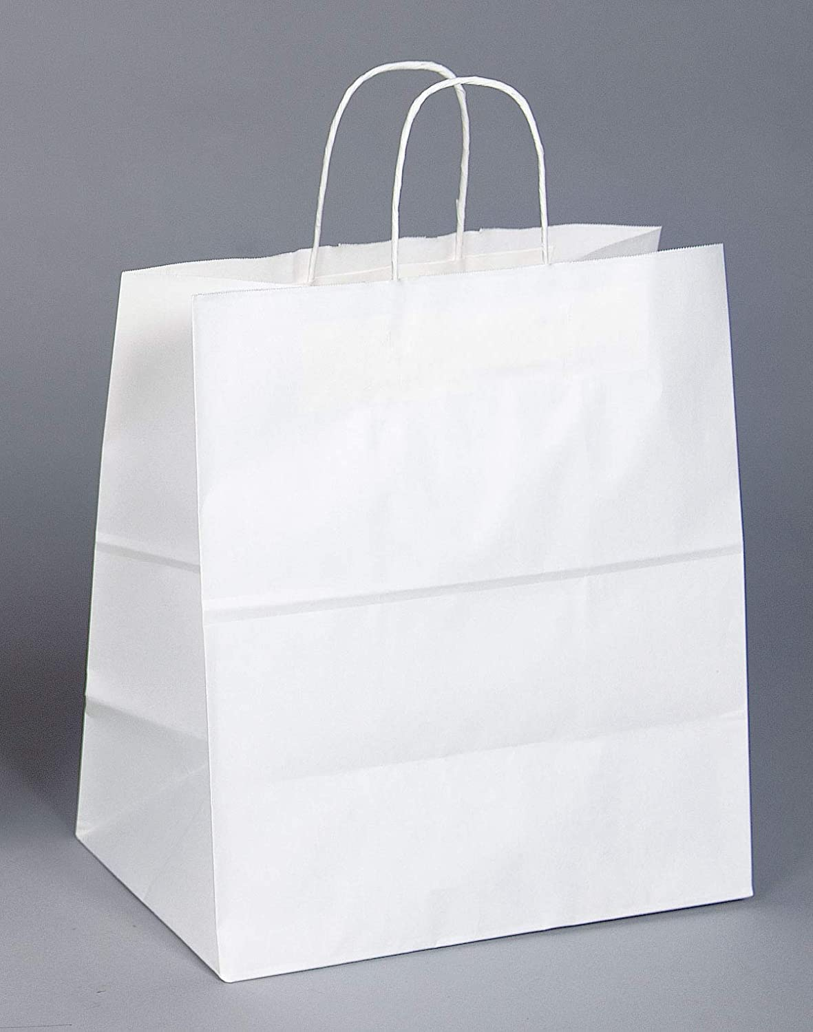Paper Bags Strong White Twisted Handle Plain Carrier Twist Gift Fashion Party