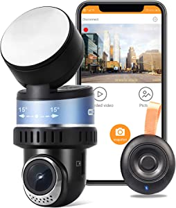 OSBOO Wi-Fi Dash Camera, Android unsupported, Superior Car Dash Cam, Sony Sensor, Small Discreet 170 Degree Wide Angle Car Camera, Rotated Lens Driving Recorder, Easy to Install, G-Sensor and GPS