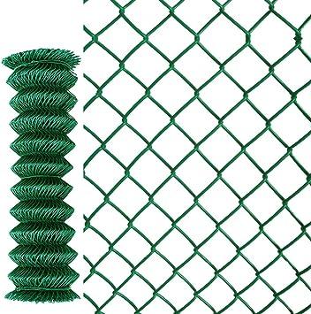jiarui GYP 15 m rollo galvanizado Valla Jardín Valla Valla metálica con recubrimiento de PVC Verde, 80 cm/100 cm/150 cm altura, malla 60 x 60 mm: Amazon.es: Bricolaje y herramientas