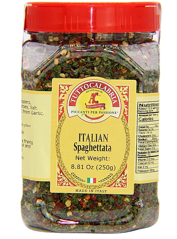 Spaghetti Seasoning | Italian Spaghettata Spicy Seasoning | All Natural | Medium Size Pack 250g by TUTTOCALABRIA