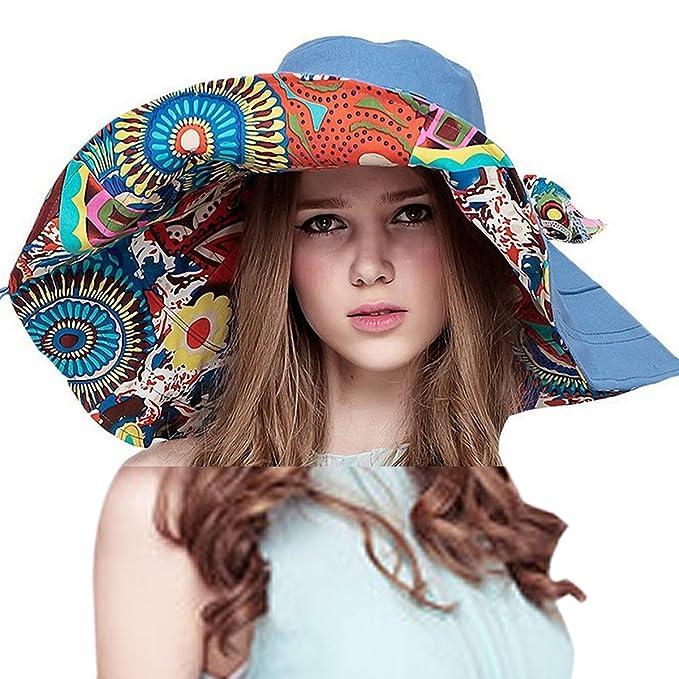 50c415a2e1e521 HAPEE Large Wide Brim Sun Hat Womens Summer Hats for Beach Garding,Floppy