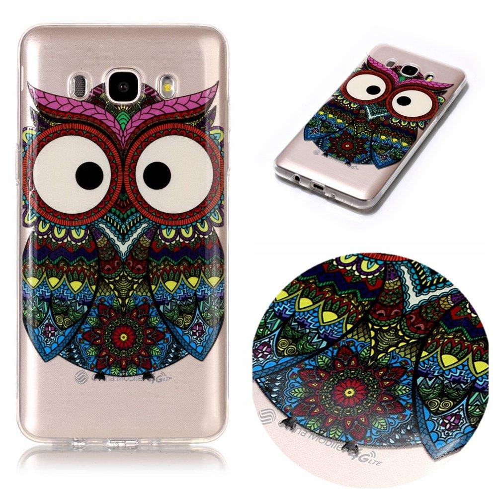 BONROY /® TPU Coque J510F Silicone /Étui Housse Protecteur-Panda Yoga pour Samsung Galaxy J5 2016