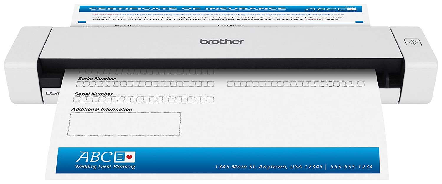 Brother Mobile Color Page Scanner, DS-620, Fast Scanning Speeds, Compact and Lightweight, Compatible with BR-Receipts