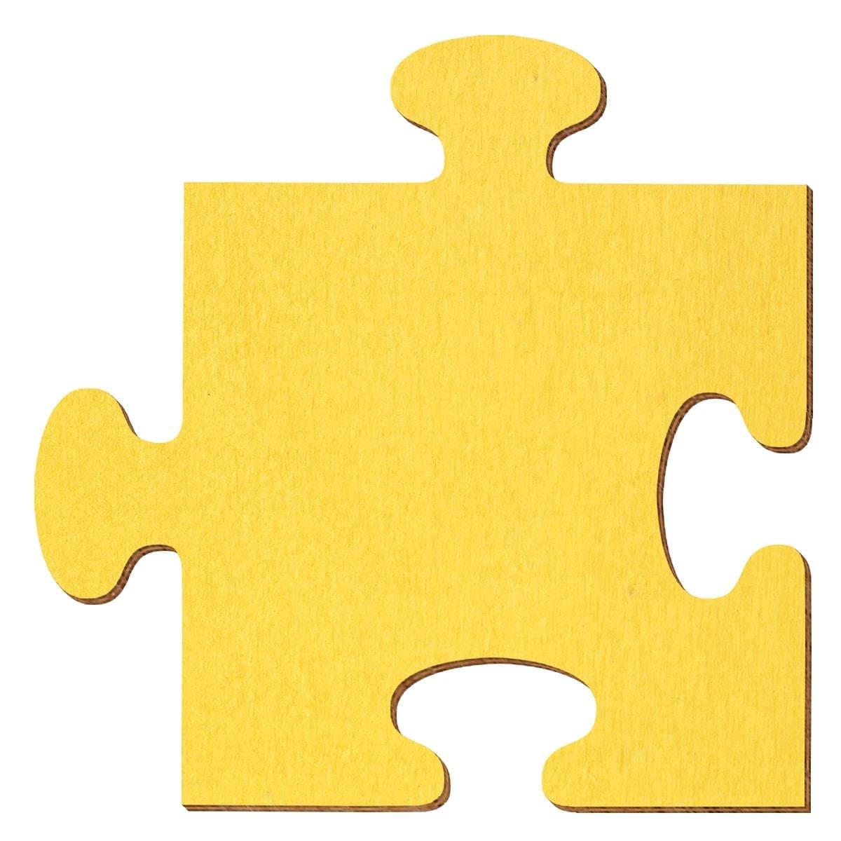 Bütic GmbH buetic compensato sbozzati Giallo–Puzzle–Misura a Scelta–Pioppo 3mm, Compensato, 5 x 5cm