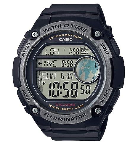 Casio Reloj Digital para Hombre de Cuarzo con Correa en Plástico AE-3000W-1AVEF: Amazon.es: Relojes