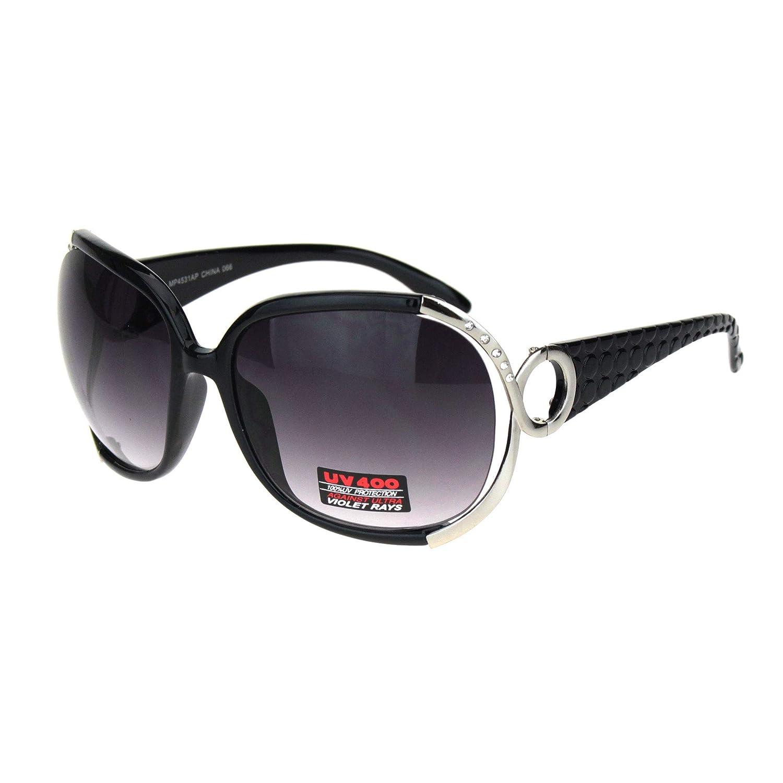 Amazon.com: Gafas de sol para mujer con ribete de diamantes ...