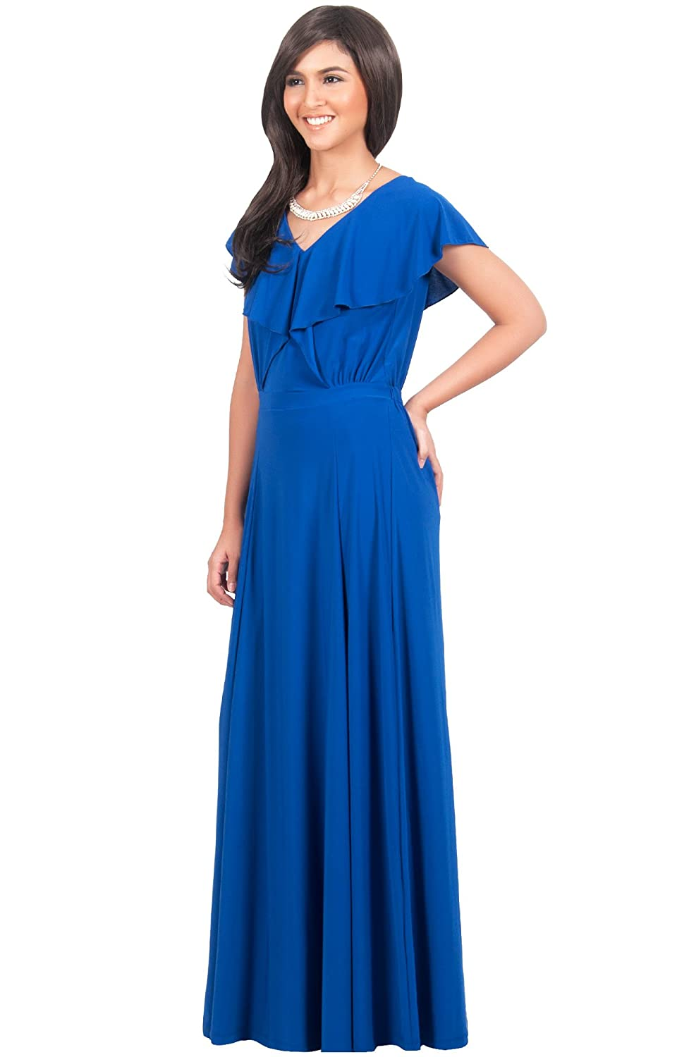 Koh koh womens long long v neck short sleeve cocktail bridesmaid koh koh womens long long v neck short sleeve cocktail bridesmaid gown maxi dress dresses maxi dress at amazon womens clothing store ombrellifo Image collections