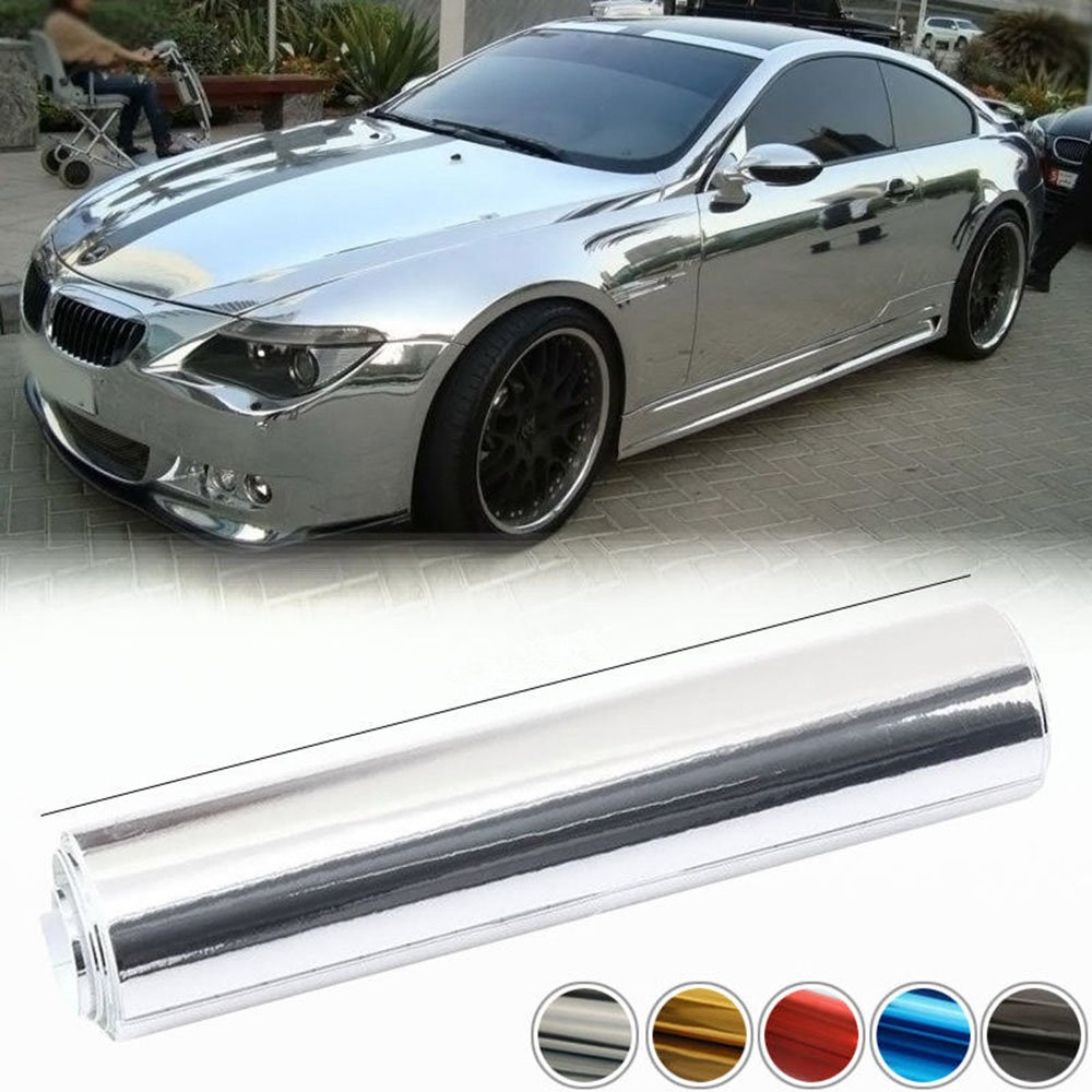 HOHO Metallic Chrome Glitter Glossy Speed Car Vinyl Wrapping Film Bubble Free,Purple,152CMX50CM