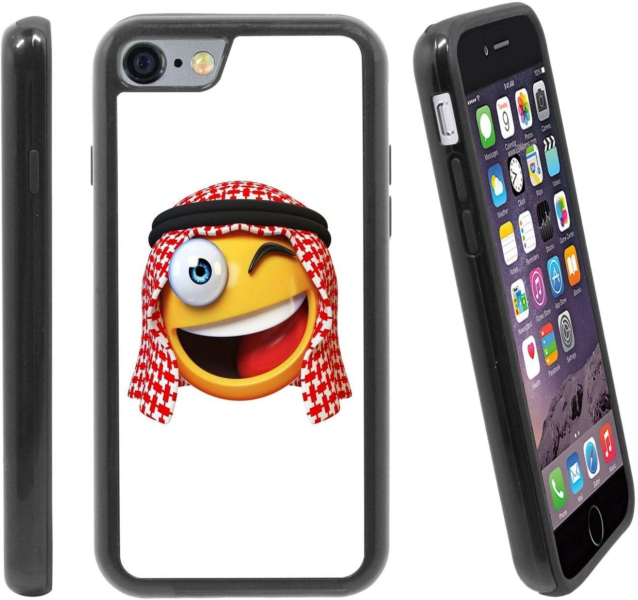 Lol Arabian Laughing Face Emoticon Emoji For Apple Iphone 6 6s 4 7 Inches Hybrid Heavy Duty Armor Shockproof Silicone Cover Rugged Case