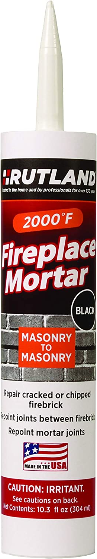 Rutland Products, Black Rutland Fireplace Mortar Cartridge, 10.3-Ounce