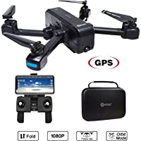 Contixo F22 RC Foldable Quadcopter Drone | Selfie, Gesture, Gimbal 1080P WiFi Camera, GPS, Altitude Hold, Auto Hover, Follow Me, Waypoint Includes Drone Storage Case - Memorial Day Sale