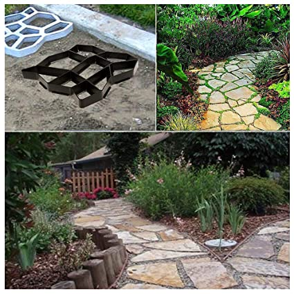 Buyi-World Molde de Concreto para Pavimento, Pavimento de Piedra, Cemento de Bricolaje