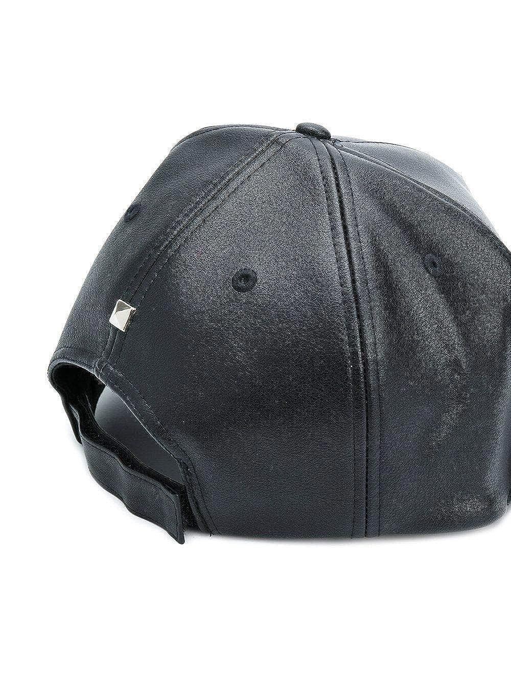 Philipp Plein Hombre Mac0096pte074n02 Negro Poliuretano Sombrero: Amazon.es: Ropa y accesorios