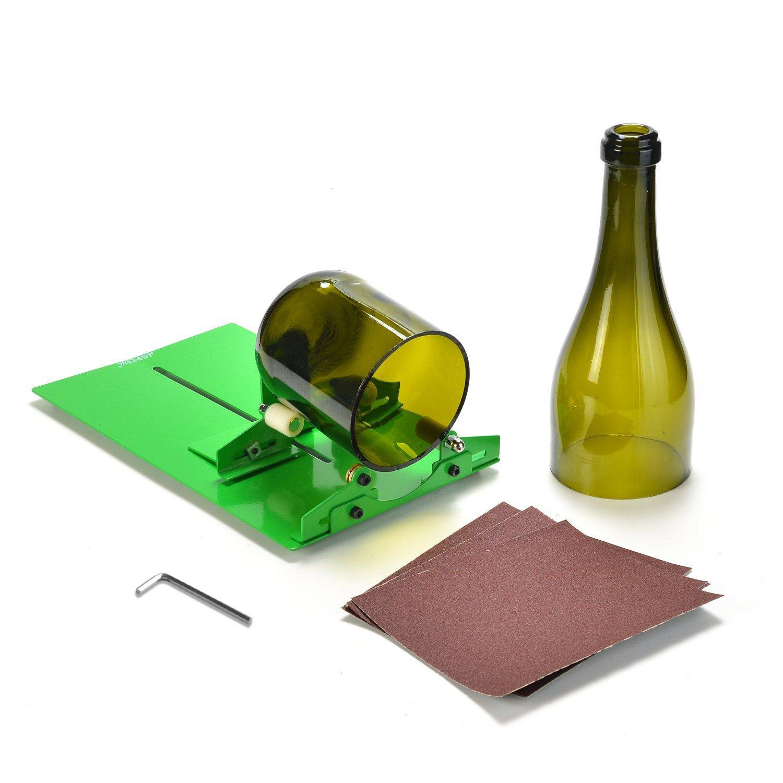 AGPtek Glass Bottle Cutter, Long Bottle Cutter DIY Cutting Machine Wine Bottles and Beer Bottles Cutting Tool(Upgrade Version)