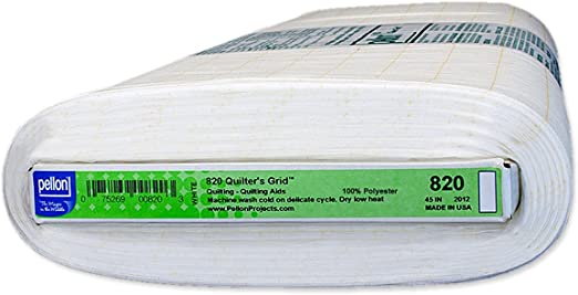 Pellon 820 Quilters Grid White 45 x 10 yards 2-Pack