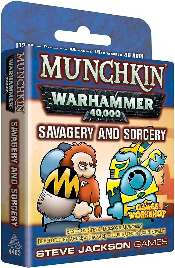 Steve Jackson Games 4483 Munchkin Warhammer 40k: Savagery & Sorcery - Juego de Mesa (Contenido en alemán): Amazon.es: Juguetes y juegos