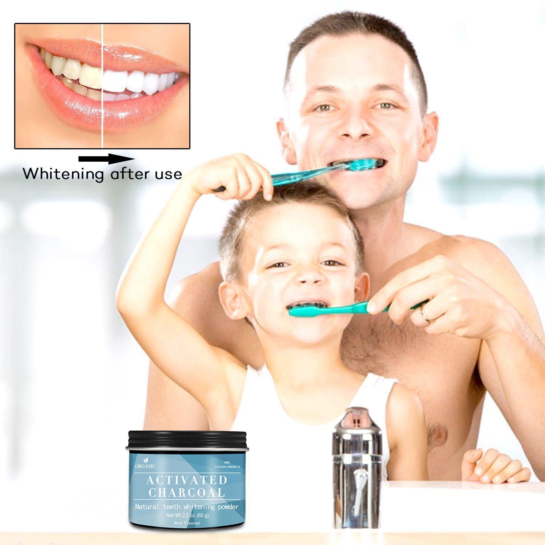 Natürliche Zahnaufhellung,Premium Kokosnuss Aktivkohle Pulver, Zahnbleaching 100% REIN ohne schädliche Zusatzstoffe, iSuri Zahnbleaching, Bleaching Zähne, Aktivkohle Pulver, Zahnbleaching, Zähne Aufhellen (60g)