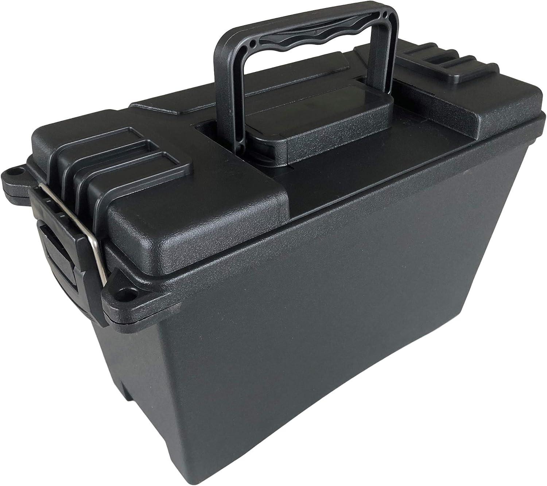 DARLINGTON /& Sohns Munitionskiste Kunststoff Schwarz Munitionsbox Tragegriff Einklappbar Stapelbar Aufbewahrung