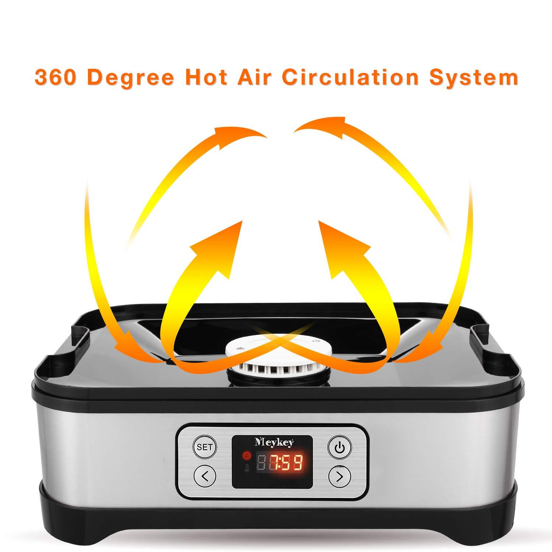 Essiccatore con regolatore di temperatura 5 ripiani 8 Etagen//Lcd frutta e carne essiccatore per alimenti senza BPA disidratante