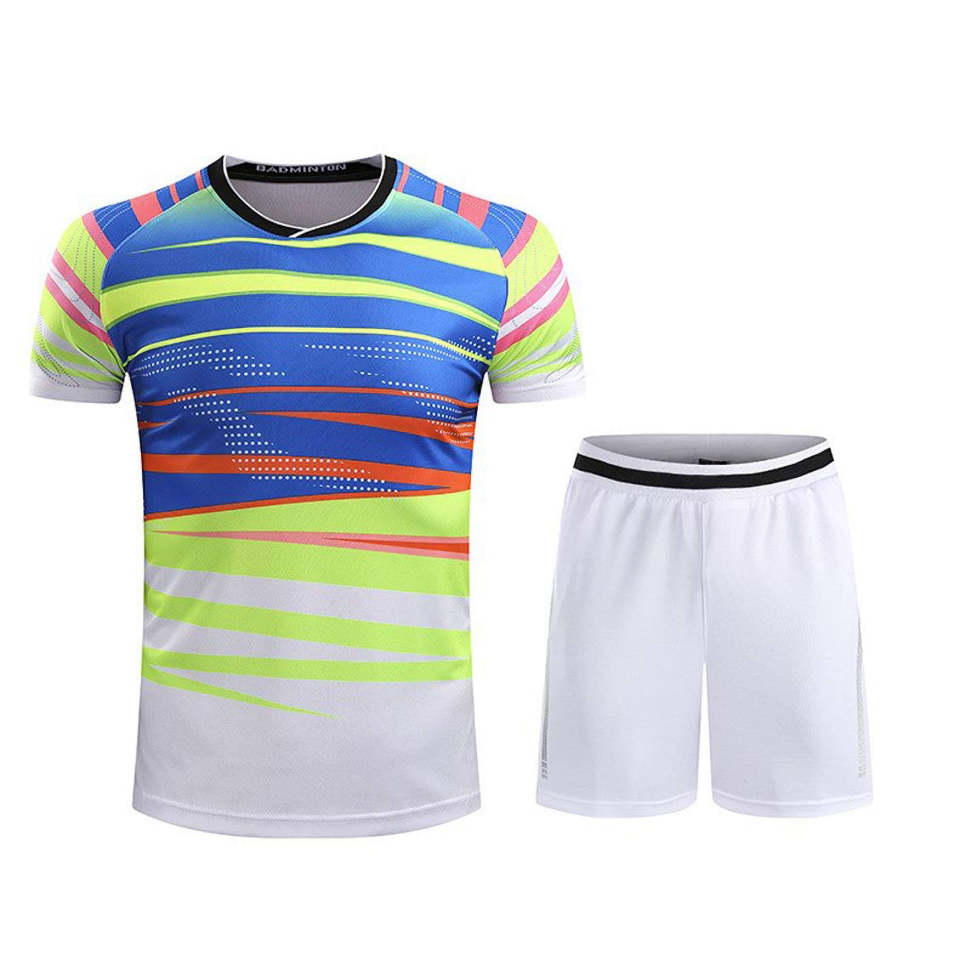 Blank Badminton Jerseys & Shorts Men's Shuttlecock Jersey Table Tennis Training Suit Tennis Sportswear Badminton Shirt & Shorts