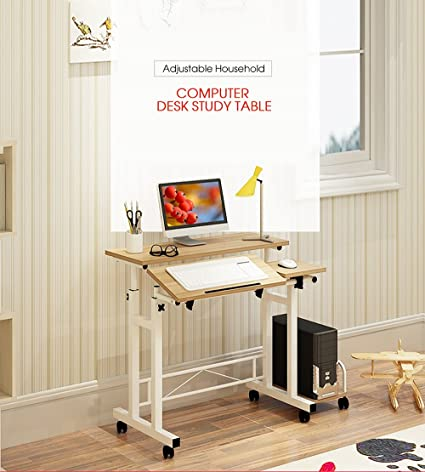 Amazon com: Mobile Height Adjustable Stand Up Desk - Computer Work