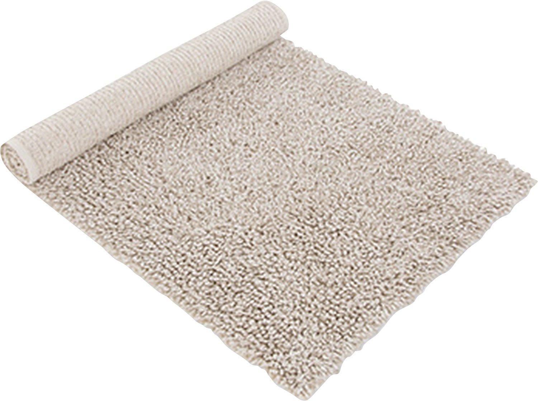 Möve Wellness Badteppich Linentwist 60 x 100 cm aus 70 % Baumwolle   30 % Leinen, nature