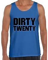 Awkward Styles Men's Dirty Twenty Hilarious Birthday Tank Tops Black Vintage