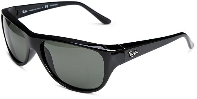 Ray-Ban RB4138 Negro/Crystal Verde - Gafas de sol polarizadas ...
