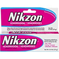 Nikzon Hemorrhoidal Cream, Vasoconstrictor & Anesthetic Cream Pain Itching Inflammation Relief, 0.9 oz