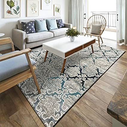 amazon com @home rugs rectangular carpet, nordic style geometricimage unavailable