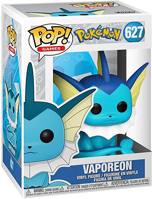 Pokemon VAPOREON #627 Pop Vinyl NEW /& IN STOCK NOW UK SELLER Funko Pop