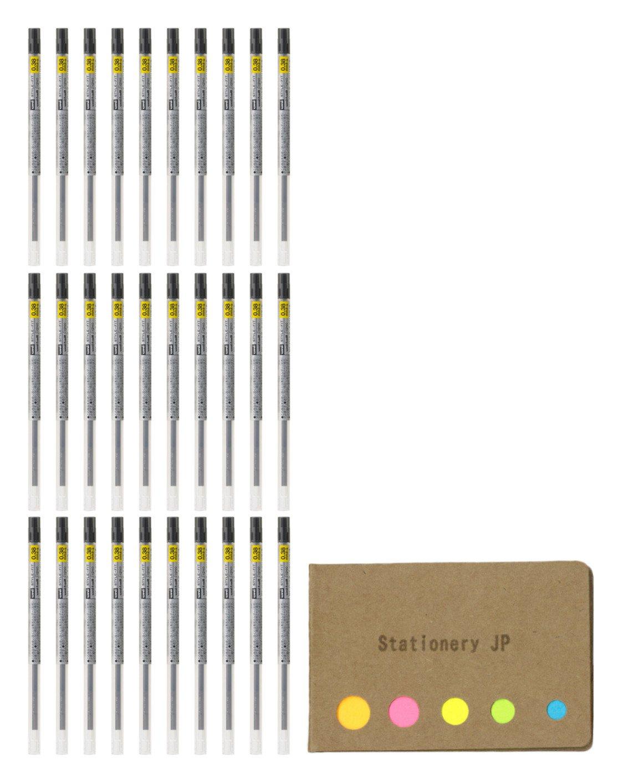 UNI - BALL SIGNO GELインクRefills for uniスタイルフィットジェルマルチペン0.38 MMブラックインク、30-pack、付箋値設定 B07D51W647