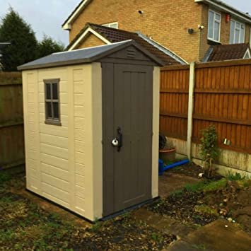 Sts Supplies Ltd Small Plastic Shed Garden Box Unit Outside Storage