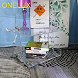 (Flat Packed) ONELUX Original Acrylic Side Table,Clear Table with Wheels,Acrylic Bedside Tables/Night Stand - 41×34×48H…